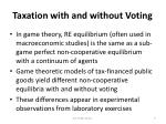 taxation with and without voting