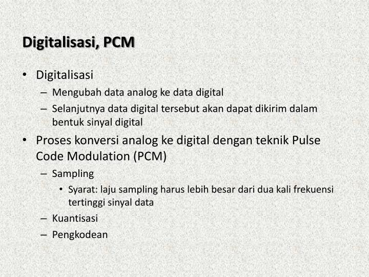 Digitalisasi, PCM
