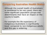 comparing australian health status