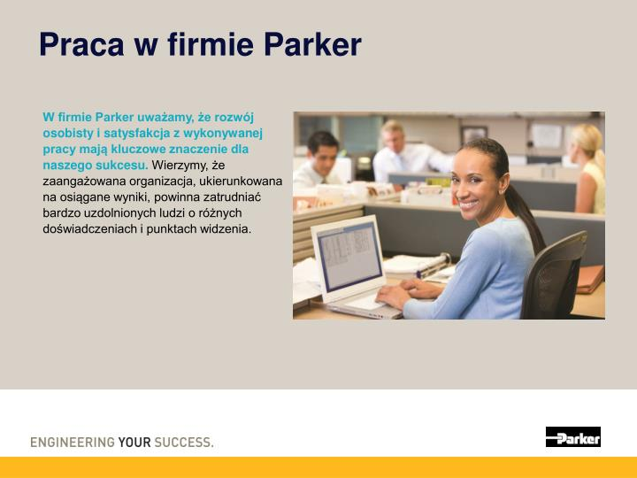 Praca w firmie Parker