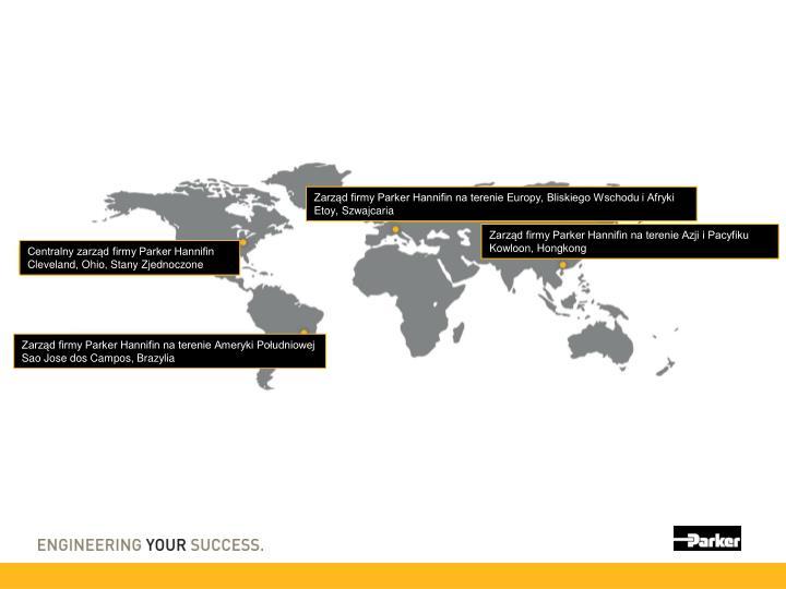 Zarząd firmy Parker Hannifin na terenie Europy, Bliskiego Wschodu i Afryki