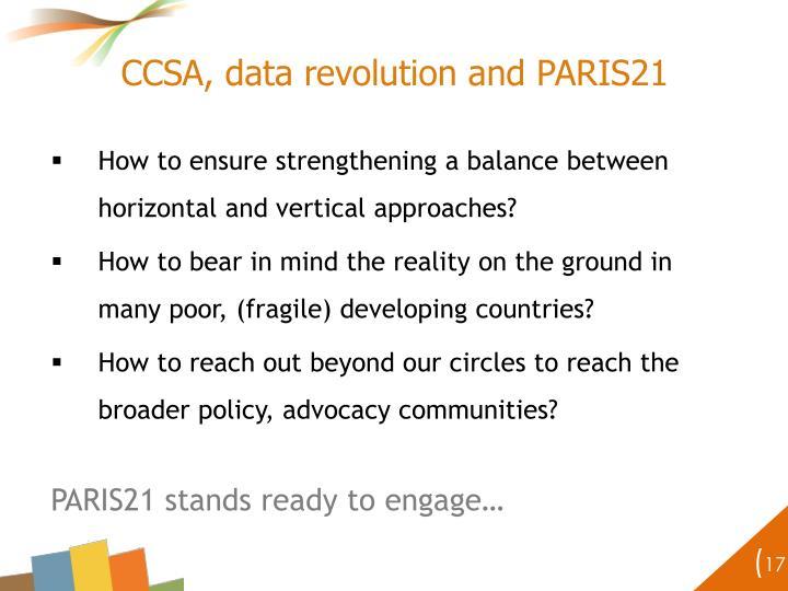 CCSA, data revolution and PARIS21