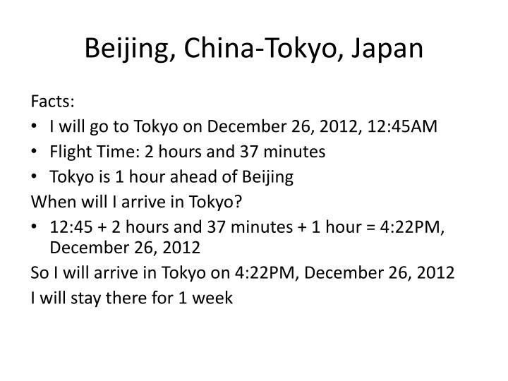 Beijing, China-Tokyo,