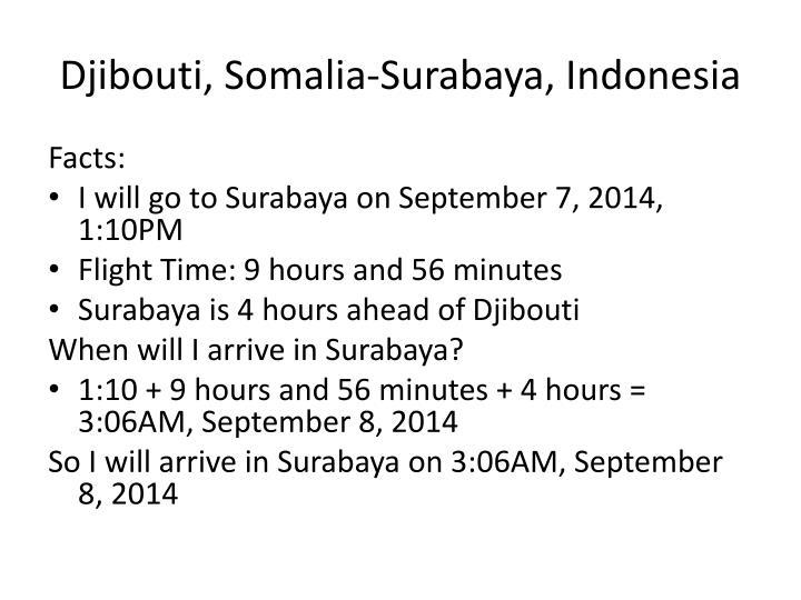 Djibouti, Somalia-Surabaya, Indonesia