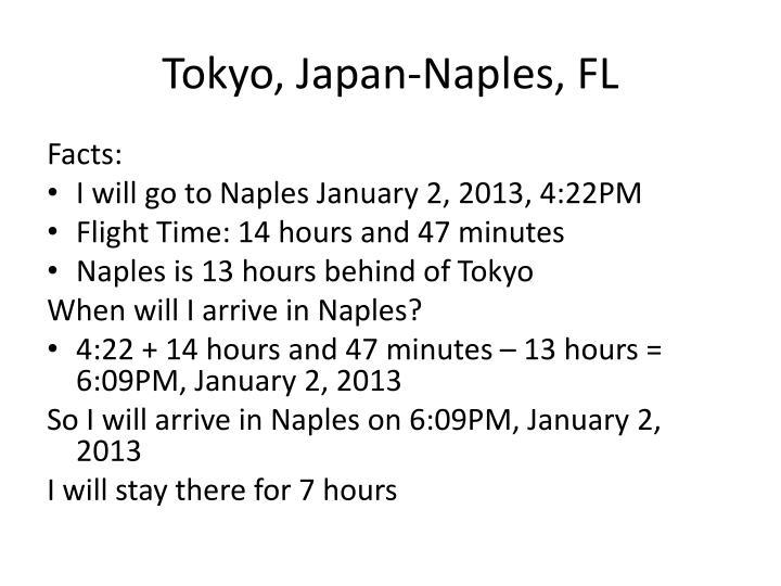 Tokyo, Japan-Naples, FL