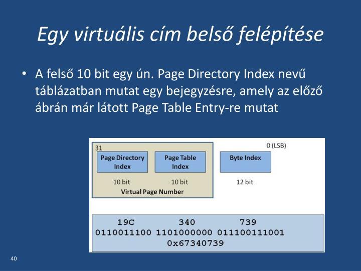 Egy virtuális cím belső felépítése