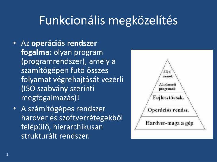 Funkcionális megközelítés