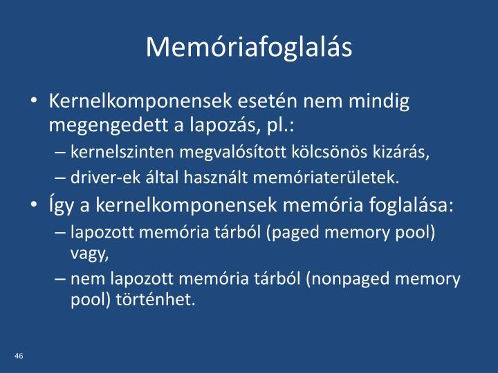 Memóriafoglalás