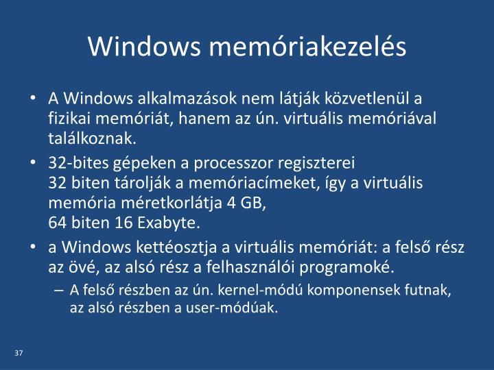 Windows memóriakezelés