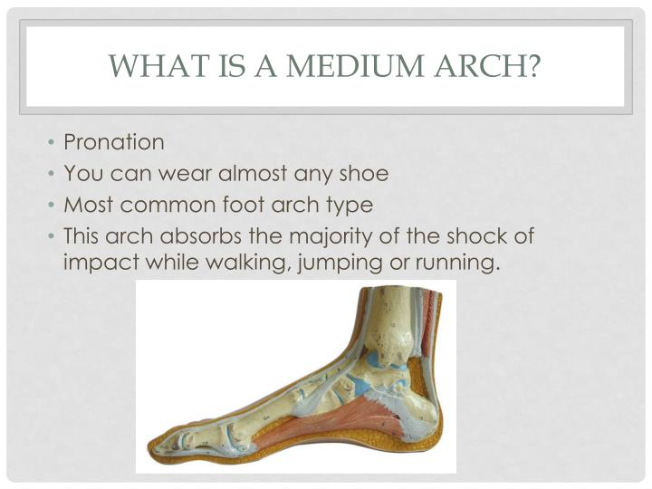 What is a medium arch?