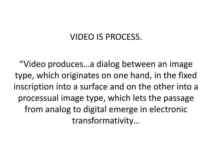 VIDEO IS PROCESS.
