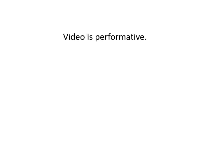 Video is