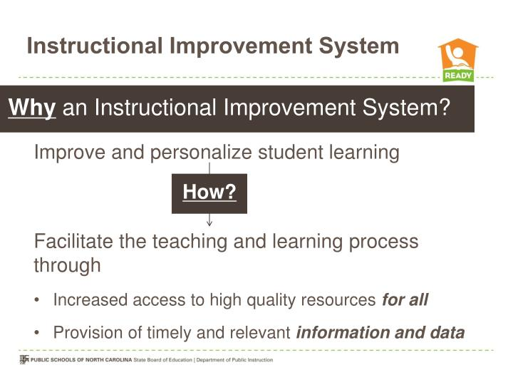 Instructional Improvement System