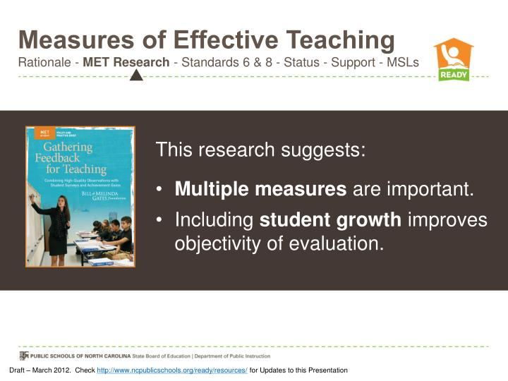 Measures of Effective Teaching