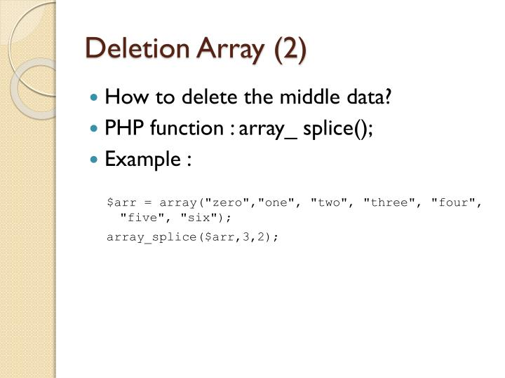 Deletion Array