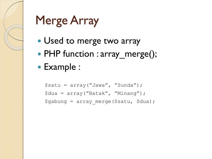Merge Array