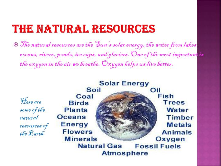 The natural resources
