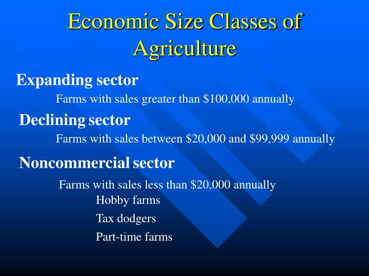 Economic Size Classes of Agriculture