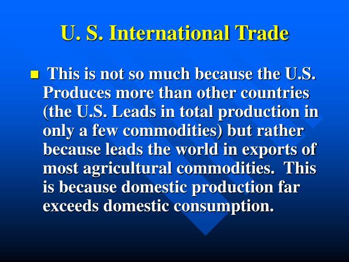 U. S. International Trade