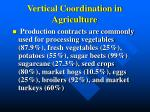 vertical coordination in agriculture1