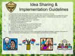 idea sharing implementation guidelines