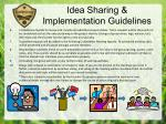 idea sharing implementation guidelines1