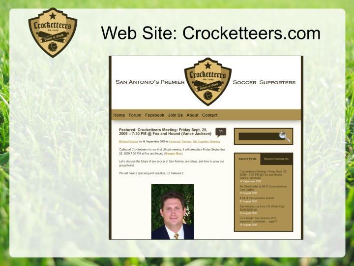 Web Site: Crocketteers.com