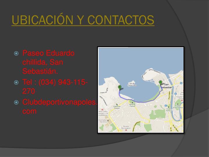 UBICACIÓN Y CONTACTOS
