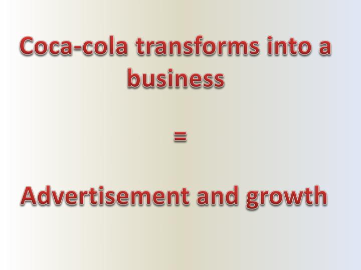 Coca-cola transforms into a business