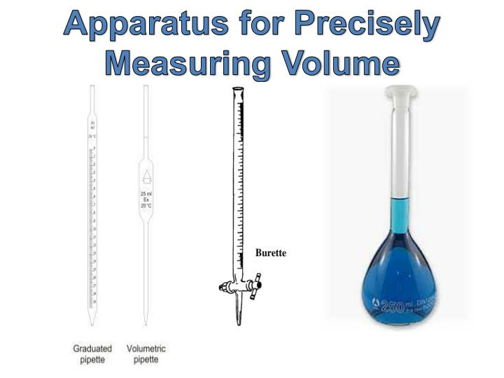 Apparatus for Precisely Measuring Volume