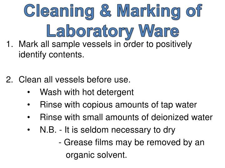 Cleaning & Marking of Laboratory Ware