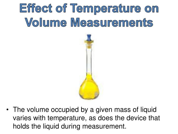 Effect of Temperature on Volume Measurements