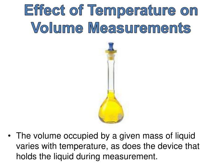 Effect of Temperature on Volume Measurements