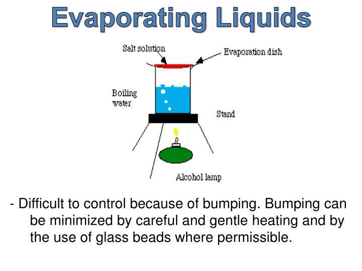 Evaporating Liquids