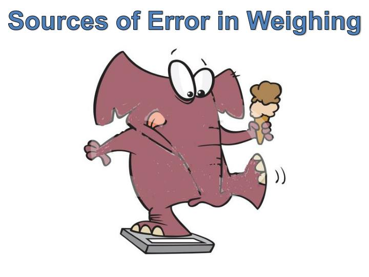 Sources of Error in Weighing