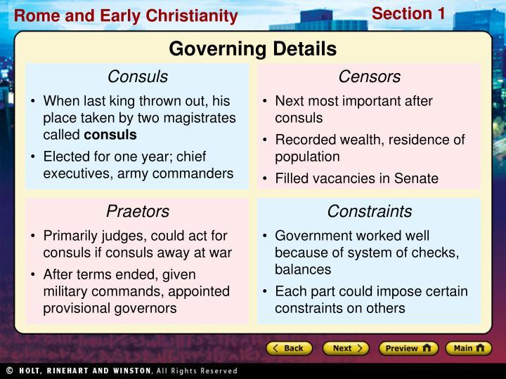 Governing Details