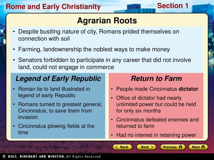 Legend of Early Republic