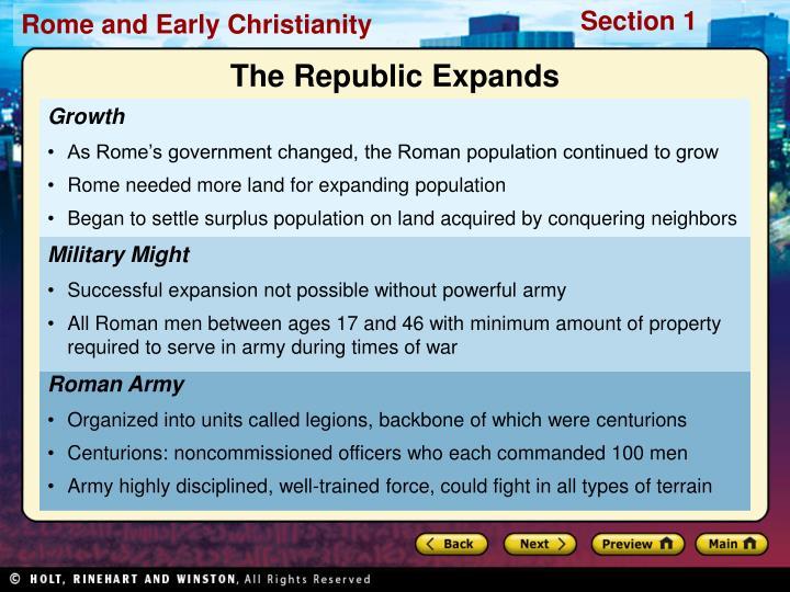 The Republic Expands