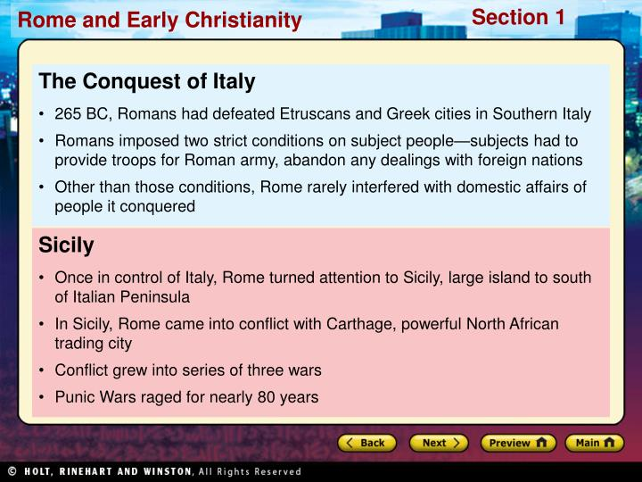 The Conquest of Italy