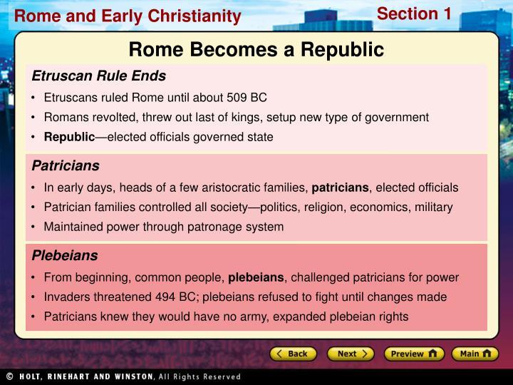 Rome Becomes a Republic