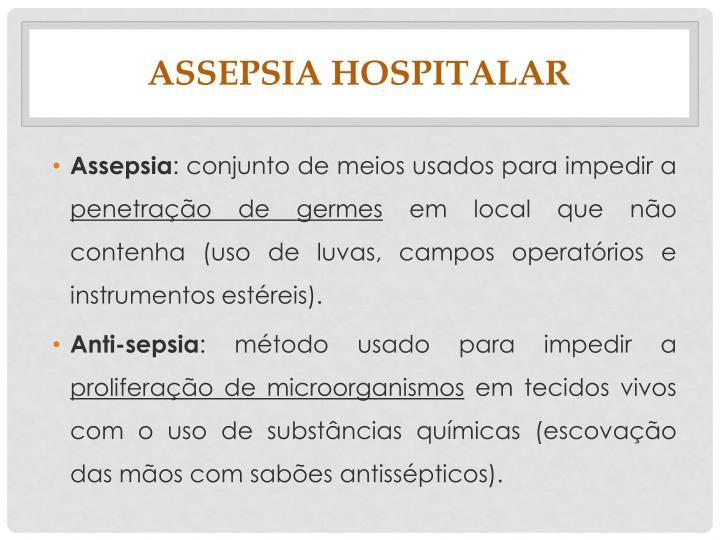 Assepsia hospitalar