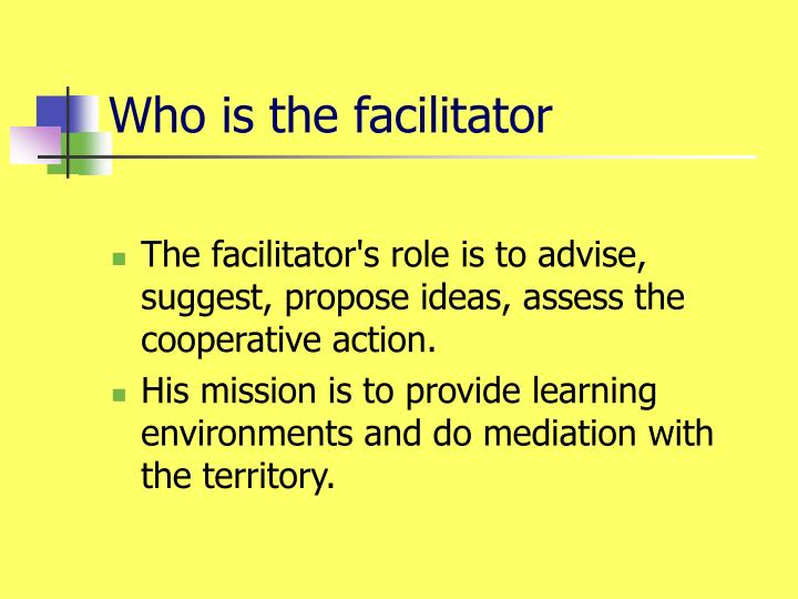 Who is the facilitator