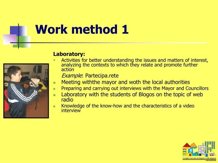 Work method 1