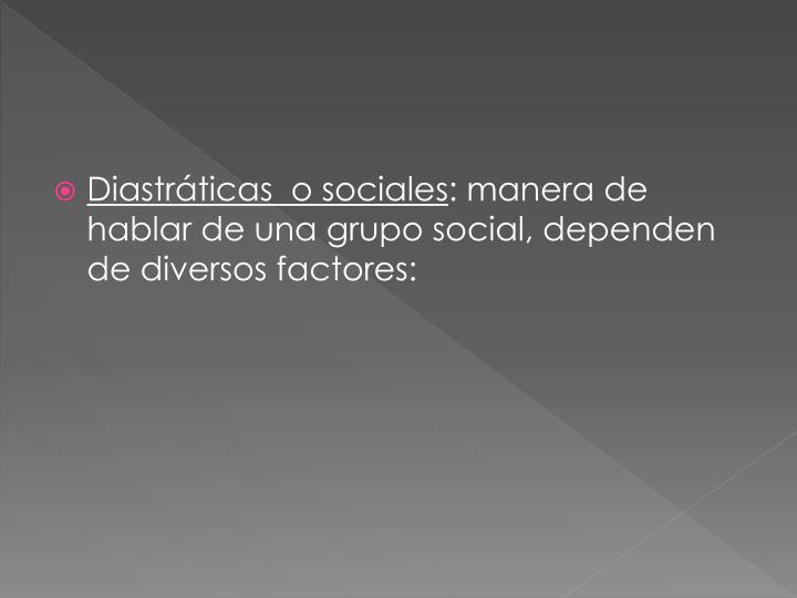 Diastráticas