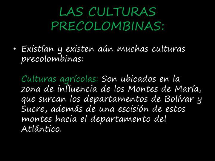 LAS CULTURAS PRECOLOMBINAS:
