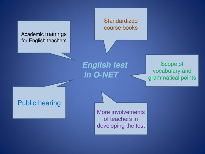 Standardized course books