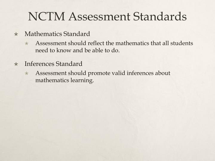 NCTM Assessment Standards