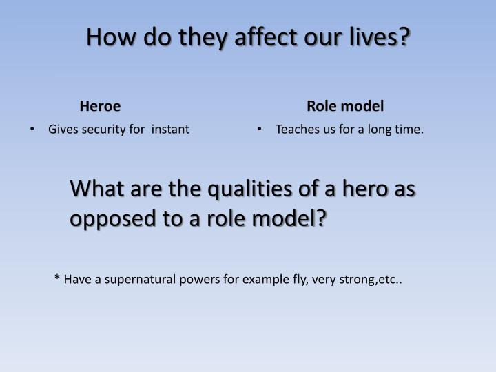 The Importance of Role Models
