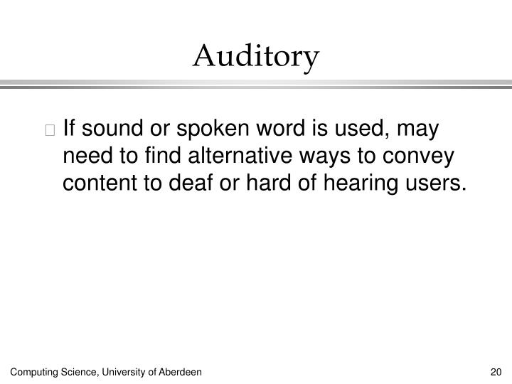 Auditory
