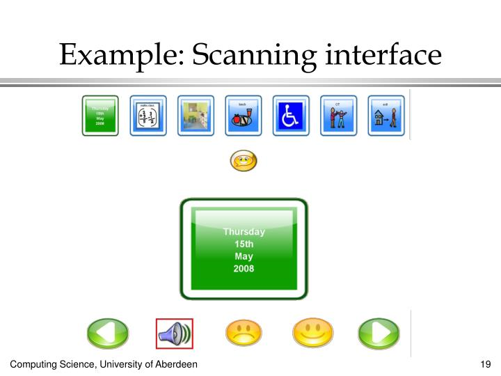 Example: Scanning interface